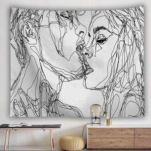 BN Kiss More Often Wall Tapestry by Sophie Shultz